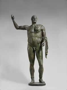Bronze statue of the Emperor Trebonianus Gallus (206-253)This bronze monumental statue is one of the very few nearly complete Roman bronze statues of the third century preserved today.