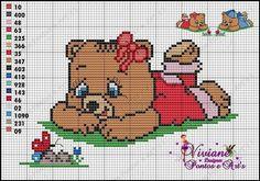 Viviane Pontos e Art's: Grafico ursinha deitada no chão