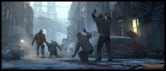 Division-Standoff, .One Pixel Brush . on ArtStation at http://www.artstation.com/artwork/division-standoff
