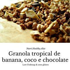 uma granola sem gluten, low fodmap e só com açucares naturais...