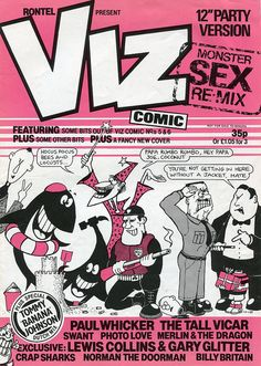 "Viz Comic ""monster sex remix"" Lost Horizon, Josie And The Pussycats, Comic Covers, Gotham, Nostalgia, Comics, My Love, Magazines, Cartoons"