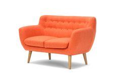 Anne 2 seater sofa, Vendy orange
