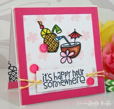 Mini encouragement card created with Paper Smooches Get Outta Town clear stamp set! Secretbees Studio: Get Outta Town!