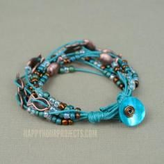 DIY Tutorial DIY Suede / DIY Rustic Copper Washer and Leather Bracelet (Tutorial) - Bead&Cord