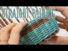 Tutorial for one of the easiest paper weaving methods – straight pairing. Video shows in details the options for starting the weaving, changing colors, some . Paper Basket Weaving, Weaving Art, Tapestry Weaving, Recycled Paper Crafts, Straw Crafts, Newspaper Basket, Newspaper Crafts, Pine Needle Crafts, Old Magazine Crafts