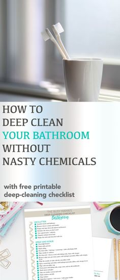 It might not be your favorite task, but it's one that has to happen with regularity (no pun intended). How to deep clean your bathroom the non-toxic way, plus a printable deep cleaning checklist. Perennialjoy.com