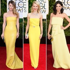 Golden Globes Red Carpet Trend Alert: Shades of Yellow #InStyle