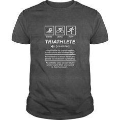 Triathlon Triathlete TShirt Definition of Swim Bike  Run