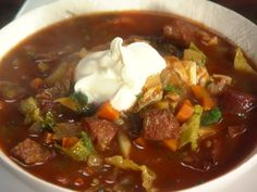 Kielbasa, Potato and Cabbage Soup Recipe : Rachael Ray : Food Network - FoodNetwork.com