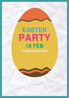 Happy Easter Flyer Template  Flyers Flyer Template And Happy Easter