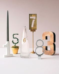 Unique Table Numbers - Martha Stewart Weddings Inspiration  Table numbers. :)