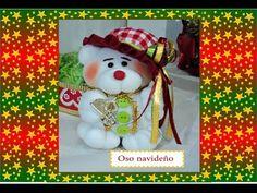 Manualidades: Muñecos de Navidad-en media velada-paso a paso - YouTube
