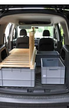 You want to expand your camper? Here you will find the … You want to expand your camper? Here you will find the best ideas for storage space, bed and instructions to expand your or LT or Crafter into a camper. Turn your Bulli into a cool campervan and … Minivan Camper Conversion, Car Camper, Mini Camper, Camper Van, Minivan Camping, Truck Camping, Tent Camping Beds, Camping Ideas, Camping Hacks