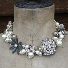 Chunky Brooch Necklace.....