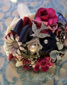 Vintage Brooch Bouquet Ideas  #vintage #brooch #bouquet  For more ideas visit www.pinterest.com/cathedraloaks or www.cathedral-oaks.com