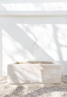 Minimalist Malibu Home | lark & linen Malibu Homes, Garden Office, Garden Fountains, Minimalist, Garden Design, Diy Garden Fountains, Landscape Designs, Garden Planning, Garden Water Fountains
