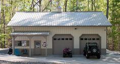 Morton Buildings hobby garage in Gaffney, South Carolina.