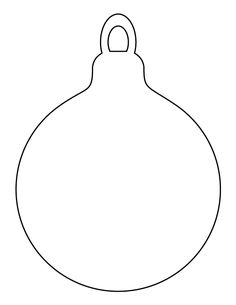 Christmas ornament pattern. Use the printable outline for crafts, creating stencils, scrapbooking, and more. Free PDF template to download and print at http://patternuniverse.com/download/christmas-ornament-pattern/