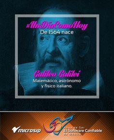 #UnDíaComoHoy 15 de febrero pero de 1564 nace Galileo Galilei, matemático, astrónomo y físico italiano.