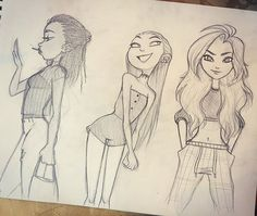 some doodles in between projects  #sketch #doodle #fashion #girlsinanimation #characterdesign