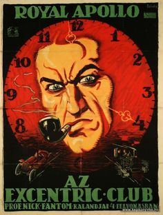 Földes Imre - Az Excentric club, 1917 Budapest, Graphic Art, Graphic Design, Fritz Lang, Cover Art, Movies, Movie Posters, Image, Ads