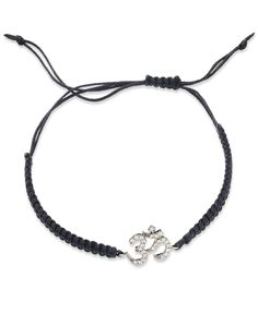 YellOra Diamond Om Parachute Cord Bracelet in YellOra (1/6 ct. t.w.)