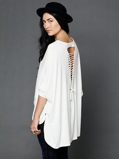 Free People Axel Caplet Boxy Long Sleeve Tee, $88.00  Love love this back