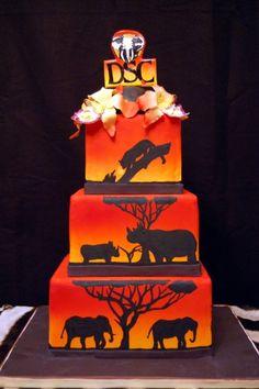 Sunset Safari Cake By kisamarie on CakeCentral.com