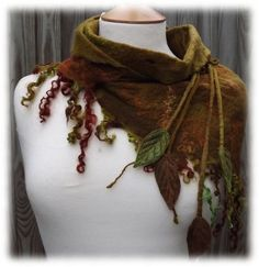 Cowl scarf - I light version of this could be good for covering a low-necked top