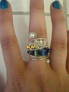 Freeform Multibead Wire Ring