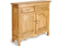 Vintage Pine Provincial Buffet with 2 upper drawers and 2 cupboards with thick lockable doors £322.00