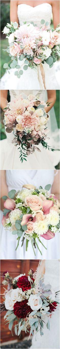 wedding flower trends and ideas - fall dahlia wedding bouquets #weddings #weddingflowers #weddingideas #weddingbouquets #wedding #flowers #red #greenery