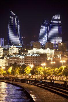 Baku nights. Flame Towers