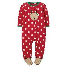 Newborn Girls' Just One You™ Made by Carter's®  Sleep N Play Red Reindeer