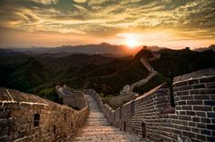 Pôr do Sol - Muralha da China - Philipp Gollne