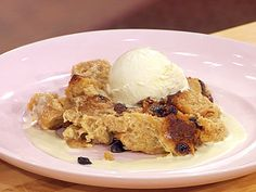 New Orleans Style Bread Pudding with Whiskey Sauce recipe from Emeril Lagasse via Food Network