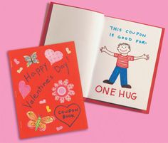 Here's a Valentine's Day craft for kids - Make a coupon  book!