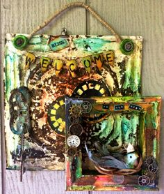 Welcome To Our Nest Home decor piece...check out all the details over on the blog http://artanthologyinc.com/blog/