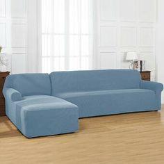 Ebern Designs L-Shaped Right 2 Piece Box Cushion Sofa Slipcover Set & Reviews | Wayfair Armchair Slipcover, Dining Chair Slipcovers, Cushions On Sofa, Dining Chairs, Sectional Couch Cover, Couch Covers, L Shaped Sofa, Box Cushion, Furniture Covers