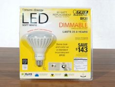 Feit Electric Flood Dimmable LED Light Bulb 750 Lumens Degree Energy efficient, Dimmable, lasts 3 years with continual use Patio Lighting, Interior Design Studio, Energy Efficiency, Packaging Design, Light Bulb, Lights, Led, Electric, 3 Years