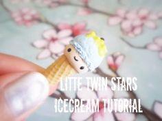 Little twin stars ice creampolymer clay tutorial