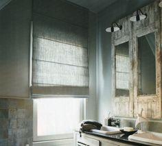 Mooie linnen vouwgordijnen Door cedante Roman Blinds, Curtains With Blinds, Linen Roman Shades, Budget Blinds, Window Dressings, Loft, Interior Styling, Window Treatments, Sweet Home
