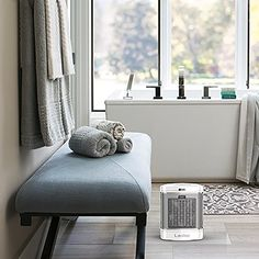 Best Bathroom Heater for Those Chilly Mornings.  If you are in need of a small-sized heater that is not just great to be used in the bathroom but also is portable and lightweight so that it can be used in other rooms, then the Lasko CD08200 Bathroom Heater is exactly what you need.    #AdvanceMyHouse #BathroomHeater Warm Bathroom, Modern Bathroom, Bathroom Wall, Small Portable Heater, Best Space Heater, Diy Heater, Portable Bathroom, Bathroom Heater