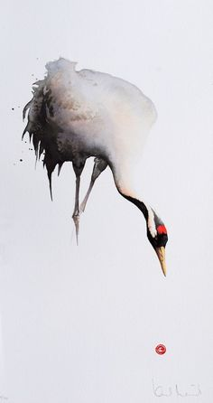 I think this is a Manchurian Crane - Lithograph from Watercolor by Karl Mårtens - Litografier « Edition Vulfovitch