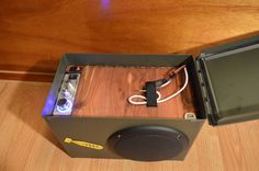 Bomb-proof Ammo can stereo system the loudest boom by BomberAudio