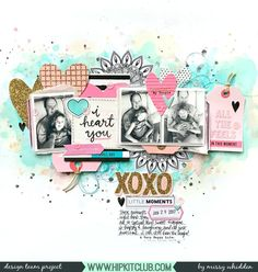 Hip Kit Club DT Project - January 2018 Hip Kits; Crate Paper Main Squeeze; Vicki Boutin All the Good Things; Pinkfresh Studio The Mix; American Crafts Memory Planner Stickers; Ranger Distress Oxides
