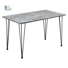 """Tento [en.casa] Jedálenský stôl """"Kiel"""" HTAT-9210 bol inšpirovaný najnovšími trendmi je vynikajúcou voľbou do jedálne, kuchyne, jedálenského kúta alebo kuchyne. Skvelý dizajn, ktorý v sebe spája drevotriesku v dekore betónu a čierne kovové nohy, je vhodný aj ako vybavenie reštaurácií alebo kaviarní.Jedálenský stôl ponúka dostatok miesta pre 4 osoby okolo dosky o rozmeroch 120 x 70 cm."""