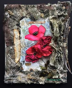Field Poppies, a Mixed Media World DT project combining watercolor and mixed media.  #mixedmedia, #watercolor, #art, #poppies