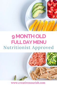 Healthy meal planning 363032419964794453 - 9 month old baby meal plan:) Nutritionist approved with healthy and delicious baby food. Source by creativenourish Baby Food Recipes 6 9, Healthy Baby Food, Healthy Meals For Kids, Healthy Recipes, Ideas Desayunos, Food Ideas, Meal Ideas, 9 Month Old Baby Food, Baby Meal Plan