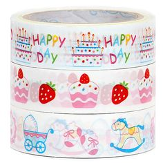 Mini Deco Tape 3 Pack - Cakes